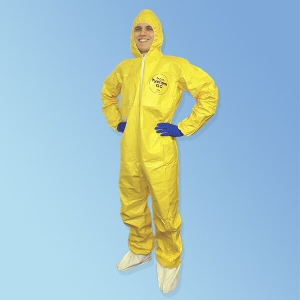 Get TyChem QC127 Coverall w/elastic wrist/ankle & hood, 12/cs QC127S at Harmony