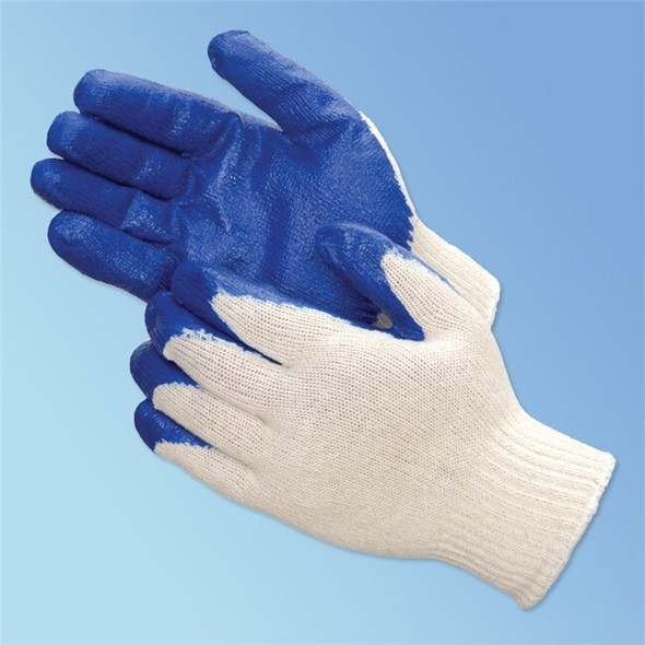 Get A-Grip Rubber Coated Glove, Blue/Gray, 12/pair BGLV1014 at Harmony