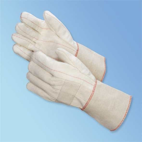 Get White Hot Mill Glove, Double Palm, Canvas Cuff, LG, 12/pr LIB4564ML at Harmony