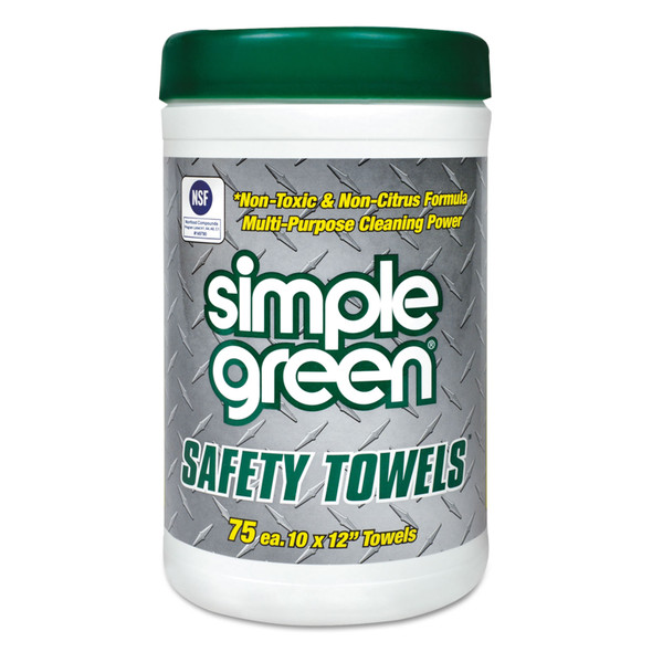 "Get Simple Green Safety Towels, 10"" x 12"", 75/can, 6/case LSMP13351 at Harmony"