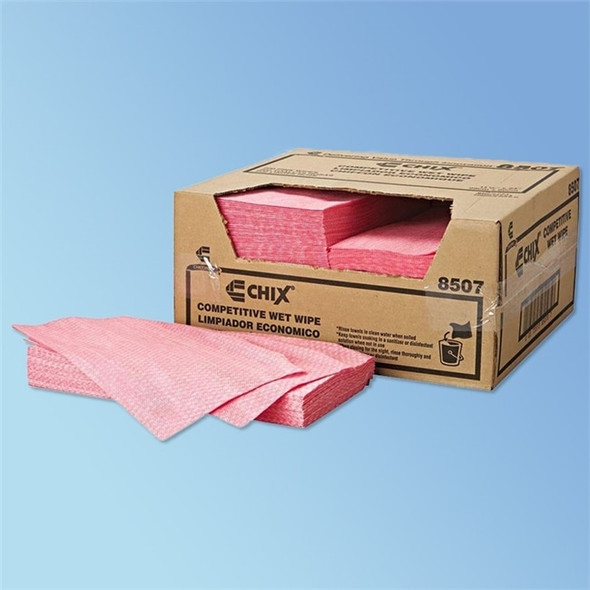 Chix Competitive Rayon Wet Wipes, 11.5 x 24 in., 200/case | Harmony Lab and Safety Supplies
