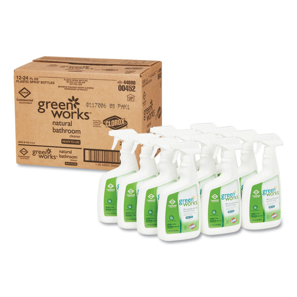Get Green Works Natural Bathroom Cleaner Spray, 24oz., 12/case L00452 at Harmony