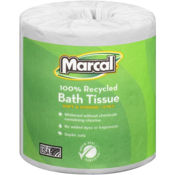 Get Marcal 2 Ply Toilet Tissue, 336 sheets /roll, 48 rolls /case at Harmony Lab & Safety Supplies.
