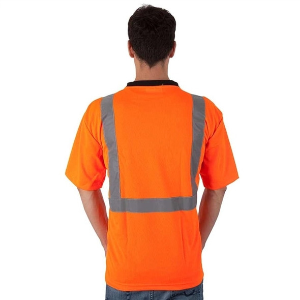 Get HivizGard Class 2 Mesh Safety T-Shirt, Short Sleeves, Orange LIBC16600F at Harmony