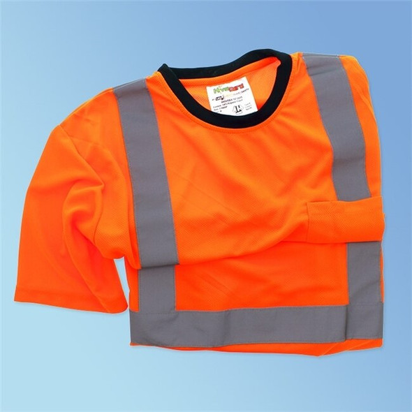 HivizGard Class 2 Mesh Safety T-Shirt, Short Sleeves, Orange, each | Harmony Lab and Safety Supplies