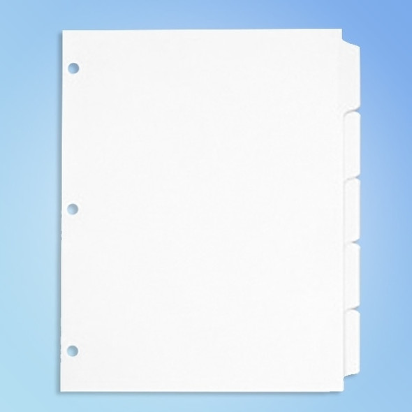 Get Cleanroom Binder Tabs, 8 1/2 x 11, 5 tabs/pack TTAB at Harmony