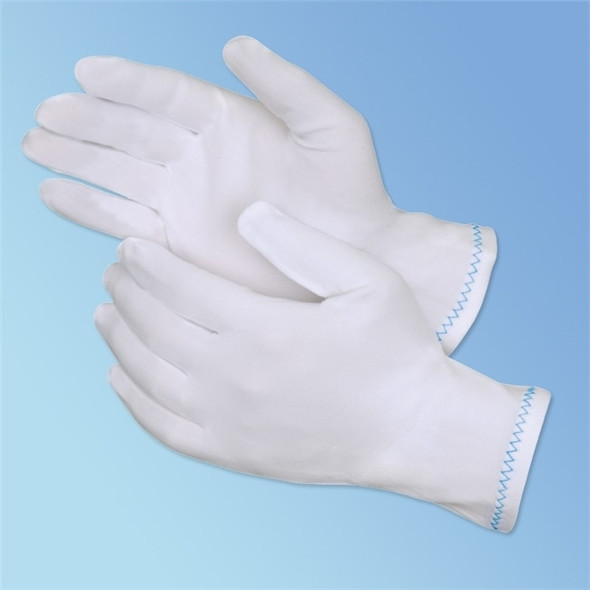 Get White Reversible Stretch Nylon Inspector Glove, 12/pr LIB4613 at Harmony