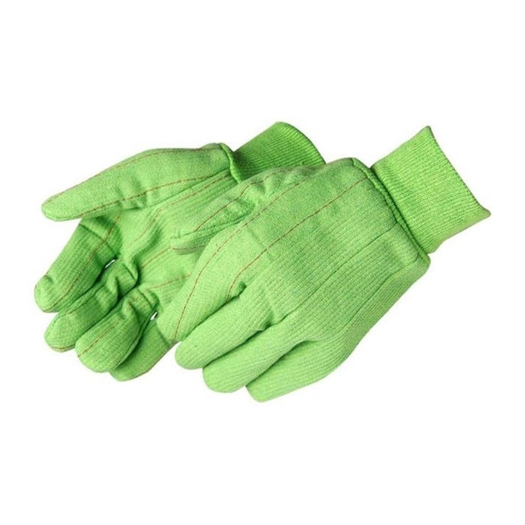 Get Fluorescent Green Corduroy Double Palm Glove, Knit Wrist, 12/pr LIBG4518CR at Harmony