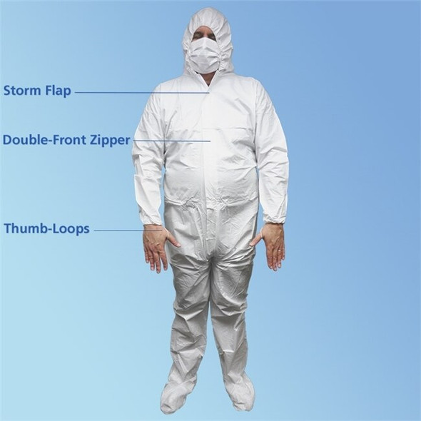 Get KeyGuard ISO 5 Microporous Coveralls with Hood & Boot, White, 25/cs T190-CE at Harmony