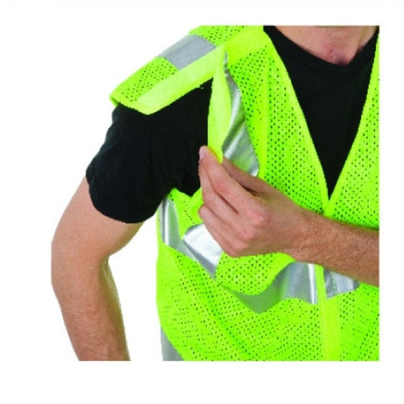 5 Point Breakaway Mesh Vest, Class 2, Lime Green | Harmony Lab and Safety Supplies