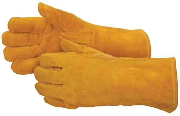 Get Brown Leather Welder Glove w/ Reinforced Thumb, Kevlar Thread, 12/pr LIB7654 at Harmony