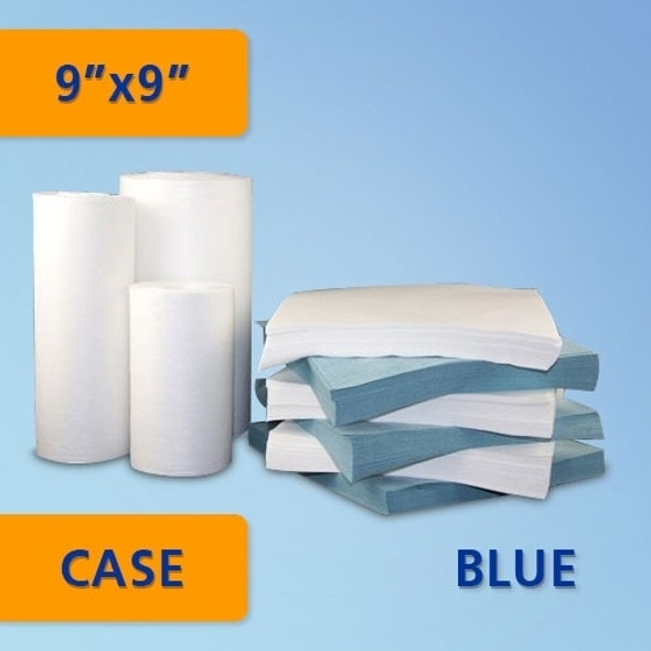 "Get Polyester/Cellulose Nonwoven Blue Cleanroom Wipe, 9""x9"",  300/bag, 10/bags/cs TZ1PCS1B-99 at Harmony"