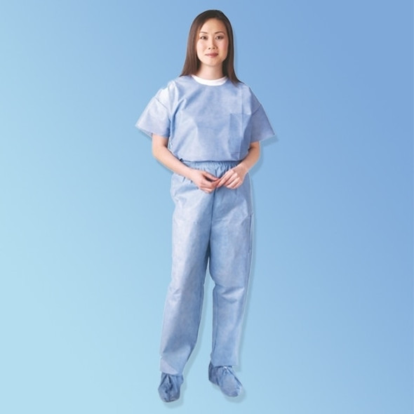 Get Disposable Blue Scrub Pants, 30/cs 27213 at Harmony