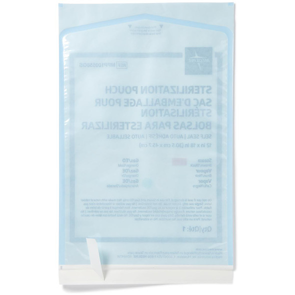 Medline Self-Seal Sterilization Pouches for Steam and Gas Only | Harmony Lab and Safety Supplies