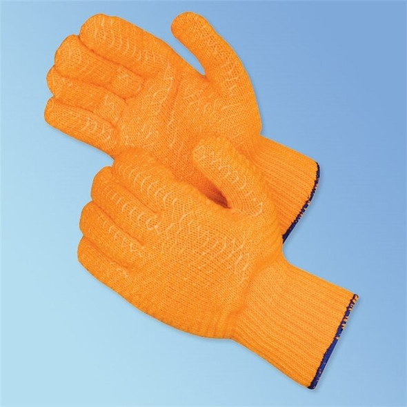 Get Orange String Knit Glove with PVC Coating, 12/pair LIB4707 at Harmony