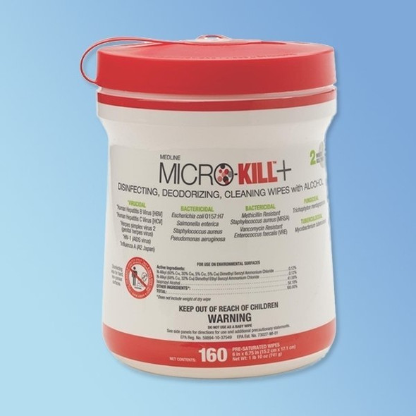 "Get Micro-Kill+ Disinfectant Wipes, 6"" x 6.75"", 160 wipes MSC351200 at Harmony"