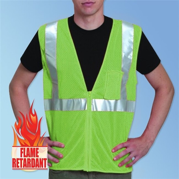 Get HivizGard Class 2 Fire Retardant Mesh Safety Vest, Lime Green LBFR16002G at Harmony