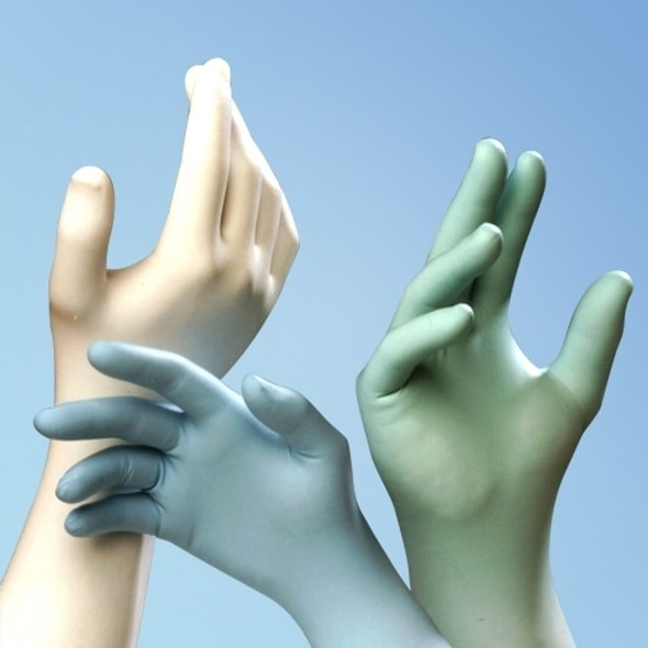 "Get TechniGlove 12"" Blue  Nitrile Cleanroom Gloves, Class 10, 1000/cs TN120B at Harmony"