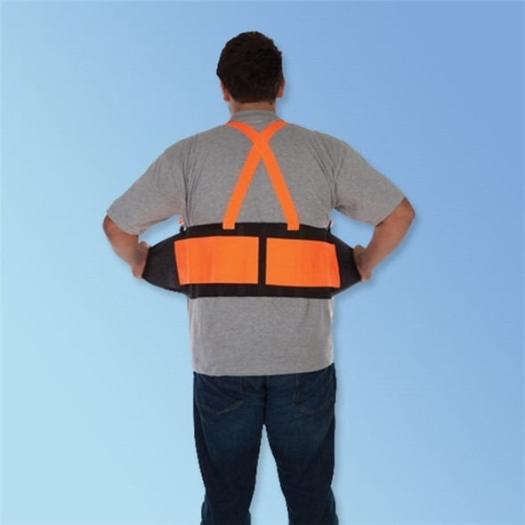 Get Durawear Hi Vis Back Support Belt w/ Adjutable Suspenders, Orange LB1908HO at Harmony