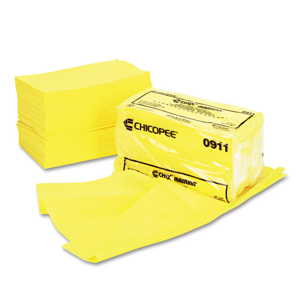 CHIX Masslinn Heavy-Duty Dust Cloths, 24.x 24 in., Yellow, 100/case