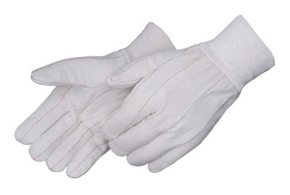 Get White Canvas Double Palm Glove, Knit Wrist, LG, 12/pr LIB4518Q-LG at Harmony