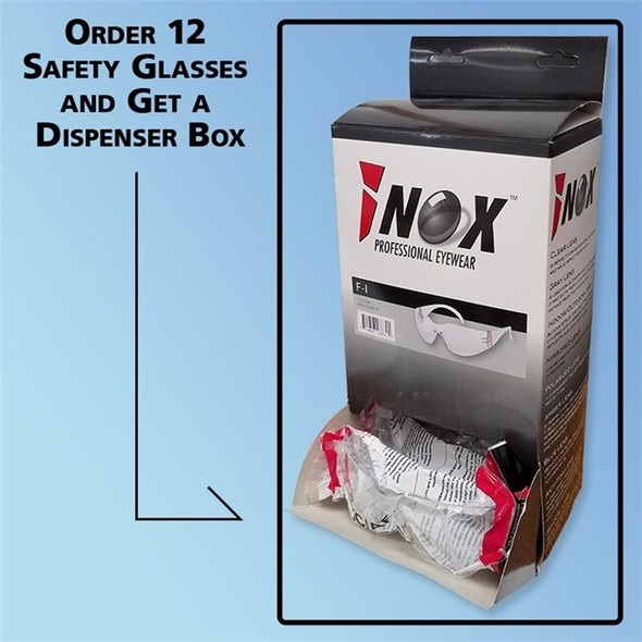 iNOX F-II Wrap-Around Safety Glasses, Clear or Anti-Fog