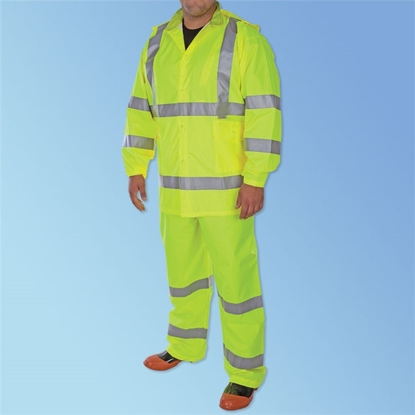 Get Class 3 Hi-Vis Green 3-Piece Rainsuit, ea LB1350 at Harmony
