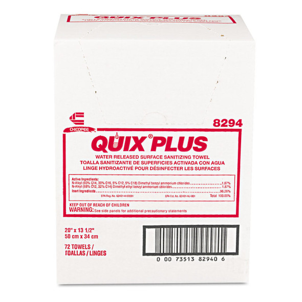 "Get Quix Plus Sanitizing Foodservice Towels, 13.5"" x 20"", 72/case L8294 at Harmony"