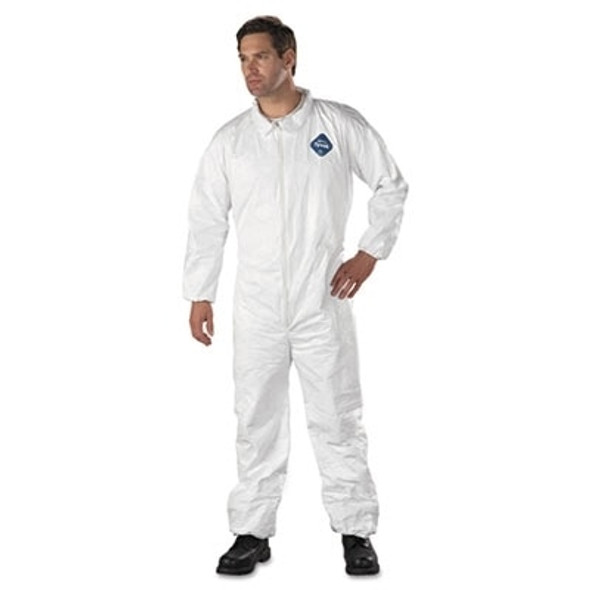 Tyvek TY125S Coveralls with elastic wrist & ankle, 25/case | Harmony Lab and Safety Supplies