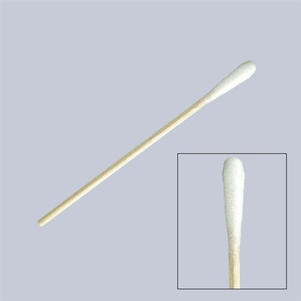 Puritan Small Tip Cotton Swab, 3 in. Wood Shaft, 50 vials of 100/case | Harmony Lab and Safety Supplies