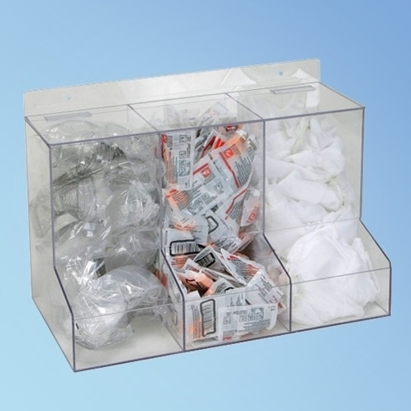 Three Compartment Dispenser, 18 in., each | Harmony Lab and Safety Supplies