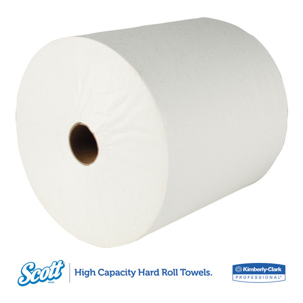 Get Scott White Hard Wound Roll Towels, 400 ft., 12/case LTTWRTS at Harmony