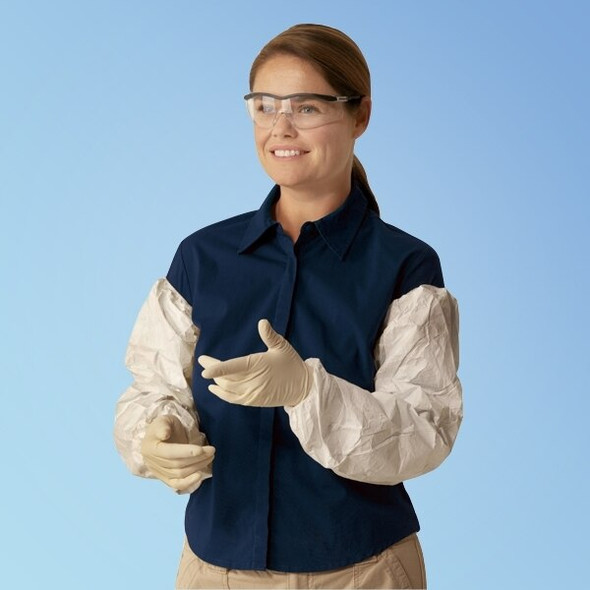 Tyvek TY500S Sleeves, 18 in., 200/case | Harmony Lab and Safety Supplies