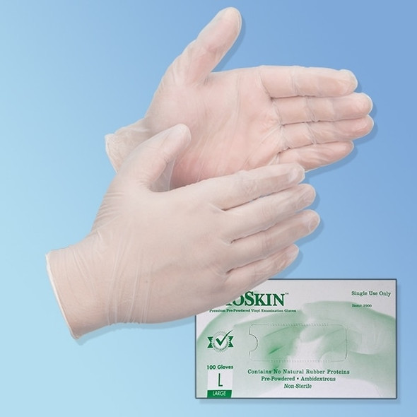Get BioSkin 4 mil Vinyl Exam Gloves, Powder Free TGLVPF at Harmony
