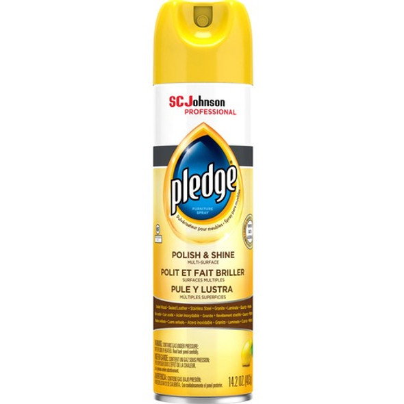 Get S. C. Johnson & Son, Inc, Pledge Lemon Enhancing Polish, 14.2 oz Aerosol Can, 1/ea at Harmony Lab & Safety Supplies.