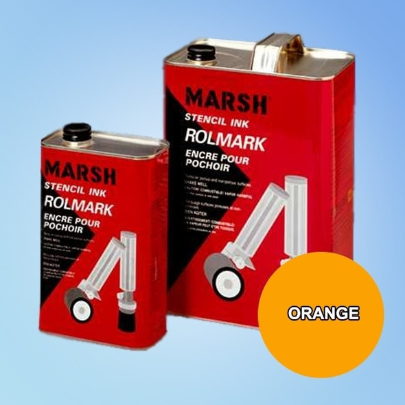 Get Marsh Rolmark Orange Ink, Quart X20915 at Harmony