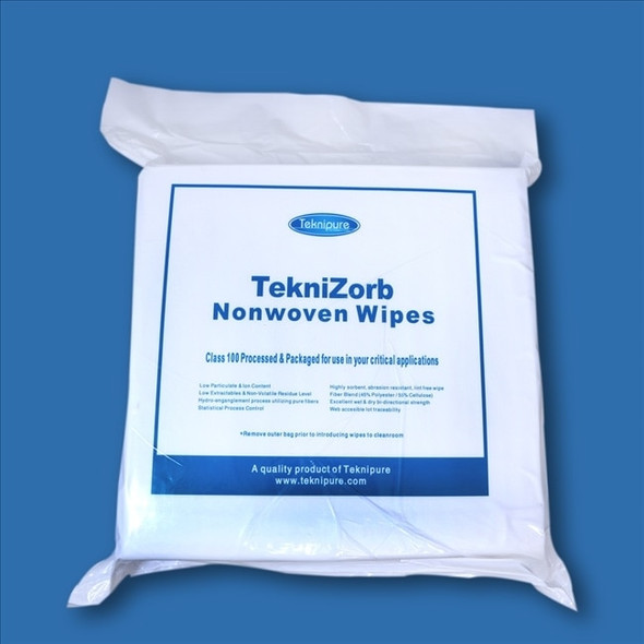 TekniZorb Polyester/Cellulose Nonwoven Cleanroom Wipe