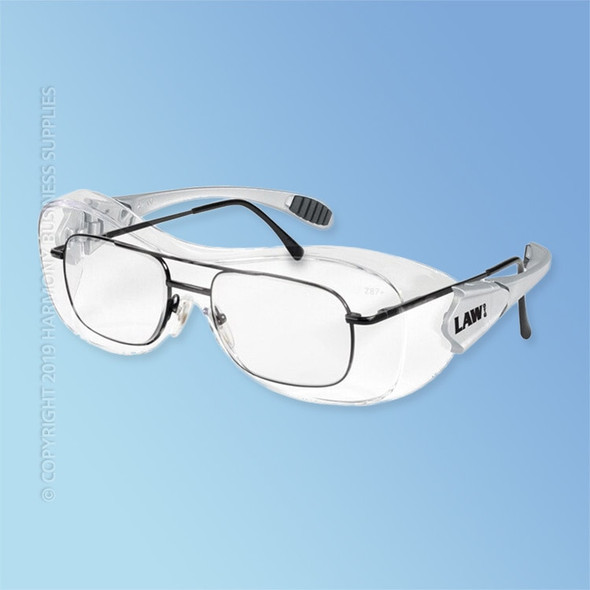 Get Crews Law OTG Safety Glasses with Ratchet Temple, Clear Lens, ea LC110AF at Harmony