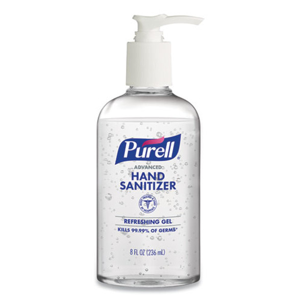 Purell Advanced Hand Sanitizer Refreshing Gel, 8 oz Pump Bottle, ea (4102-12-S) by Harmony Lab and Safety
