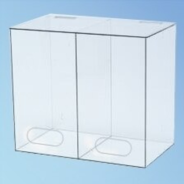Two Compartment Dispenser, 15 3/4 in., each | Harmony Lab and Safety Supplies