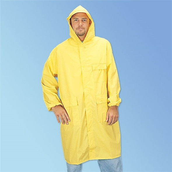 Get PVC/Polyester Yellow Raincoat, ea LIB1225 at Harmony