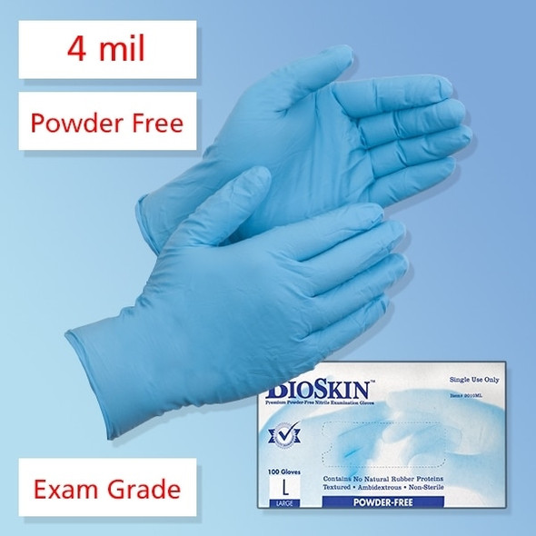 Get BioSkin 4 mil Nitrile Exam Gloves, Powder Free TGLNTPF at Harmony