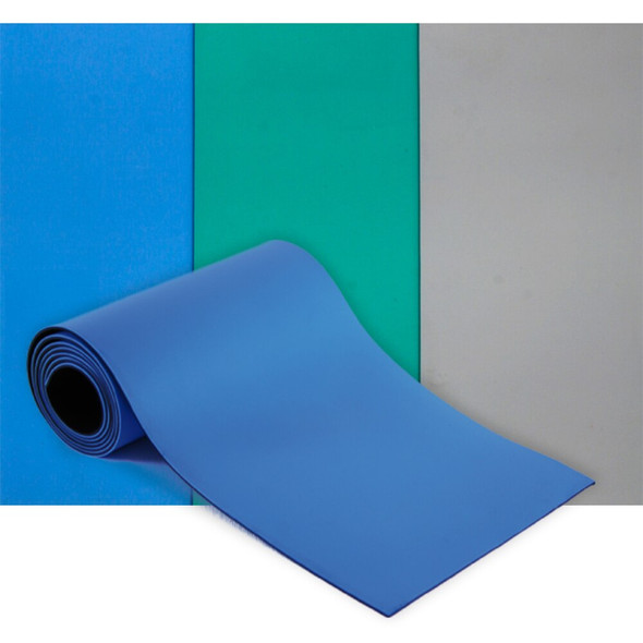 Get Anti-static Rubber ESD Table Mat, Blue, 33' Roll, 2 sizes EESD-MAT-2X33BEP at Harmony