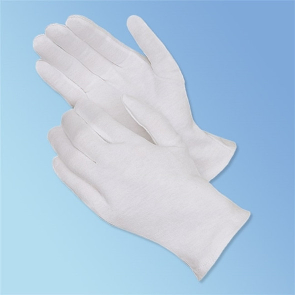 Get Reversible Cotton Lisle Inspection Gloves, 12 pairs, Two Weights LIB4411 at Harmony