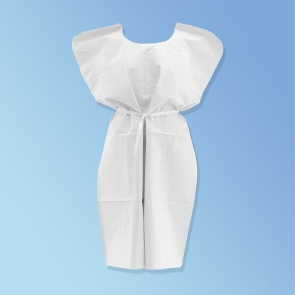 "Get Disposable Patient Gowns, 30"" x 42"", Blue or White, 50/cs NON2435 at Harmony"