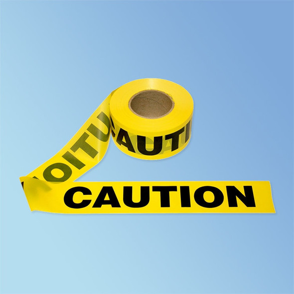 "Get CAUTION Barricade Tape, Yellow, 3"" x 1000' RTAPE-CAUTION at Harmony"