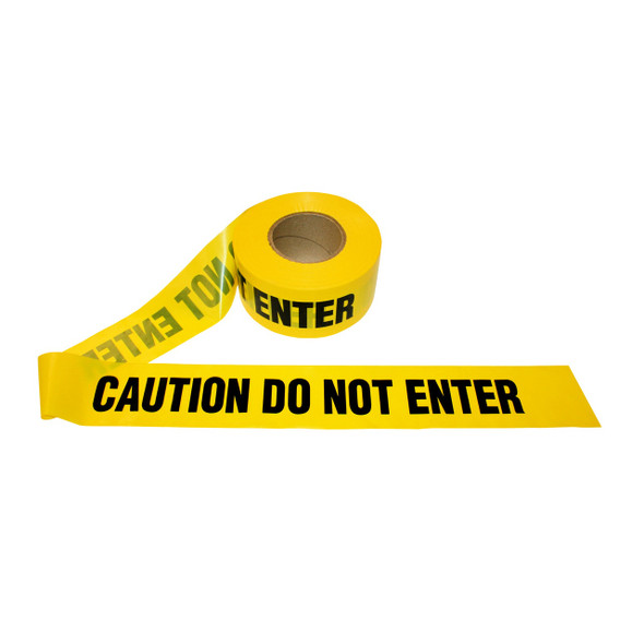 "Get CAUTION DO NOT ENTER Barricade Tape, Yellow, 3"" x 1000' RTAPE-CDNE at Harmony"