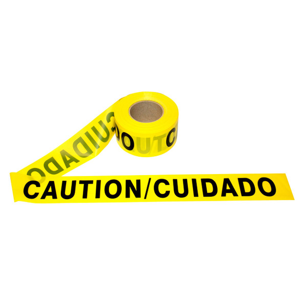 "Get Bilingual CAUTION/CUIDADO Barricade Tape, Yellow, 3"" x 1000' RTAPE-CUIDADO at Harmony"