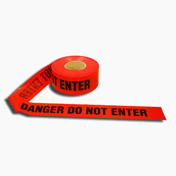 "Get DO NOT ENTER Barricade Tape, Red, 3"" x 1000' RTAPE-DDNE at Harmony"
