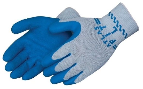 Get Showa Atlas 300 Textured Latex Coated Glove, Blue/Gray, 1/pair LIB300V at Harmony